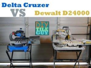delta cruzer tile saw vs dewalt d24000 | diytileguy