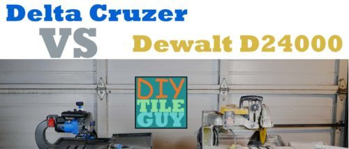 Delta Cruzer 7-inch tile saw vs Dewalt D24000