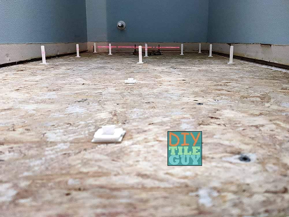 self-leveling underlayment pins