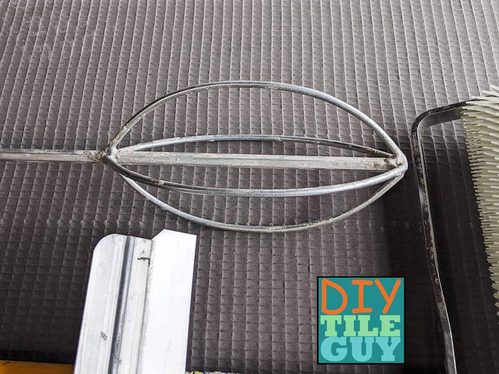 oval egg beater mixing paddle